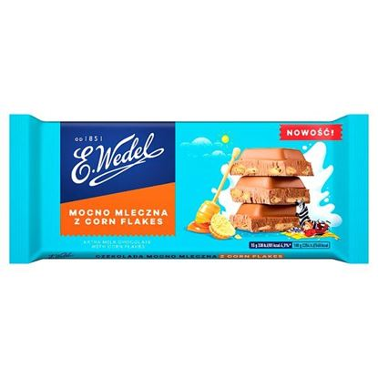 E. Wedel Czekolada mocno mleczna z corn flakes 90 g
