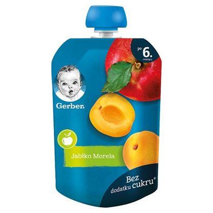Gerber Deserek jabłko morela dla niemowląt po 6. miesiącu 90 g