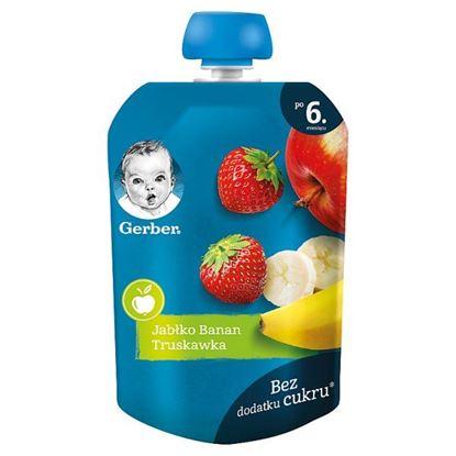 Gerber Deserek jabłko banan truskawka dla niemowląt po 6. miesiącu 90 g