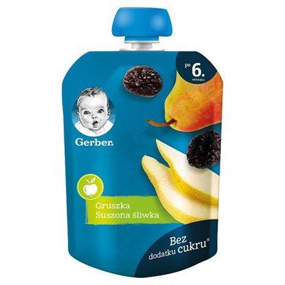 Gerber Deserek gruszka suszona śliwka dla niemowląt po 6. miesiącu 90 g