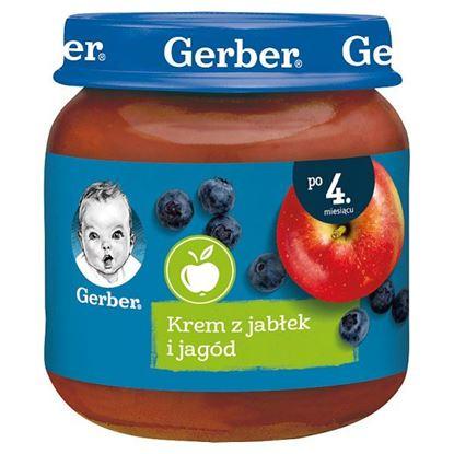 Gerber Krem z jabłek i jagód dla niemowląt po 4. miesiącu 125 g