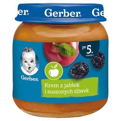 Gerber Krem z jabłek i suszonych śliwek dla niemowląt po 5. miesiącu 125 g