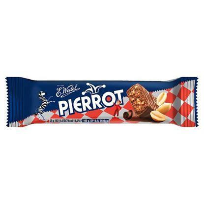 E. Wedel Pierrot Baton orzechowy arachidowy w mlecznej czekoladzie 45 g