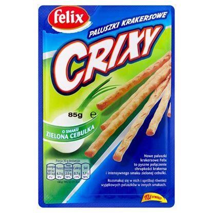 Felix Crixy Paluszki krakersowe o smaku zielona cebulka 85 g