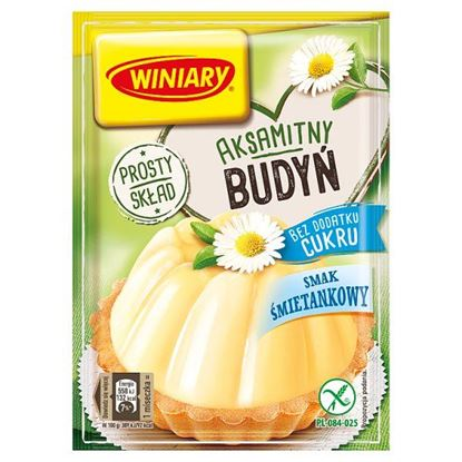 Winiary Budyń bez dodatku cukru smak śmietankowy 35 g
