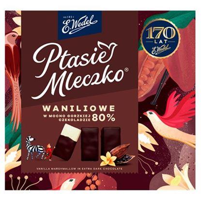 E. Wedel Ptasie Mleczko waniliowe w mocno gorzkiej czekoladzie 80% 360 g