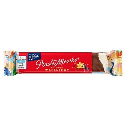 E. Wedel Ptasie Mleczko batonik waniliowy w czekoladzie deserowej 26 g