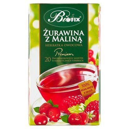 Bifix Premium Herbatka owocowa żurawina z maliną 40 g (20 x 2 g)