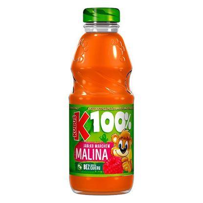 Kubuś 100% Sok jabłko marchew malina 300 ml