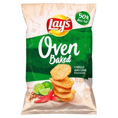 Lay's Oven Baked Pieczone formowane chipsy ziemniaczane o smaku chilli i limonki 125 g