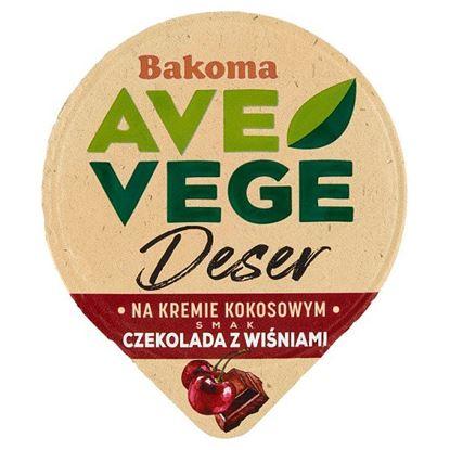 Bakoma Ave Vege Deser na kremie kokosowym smak czekolada z wiśniami 150 g