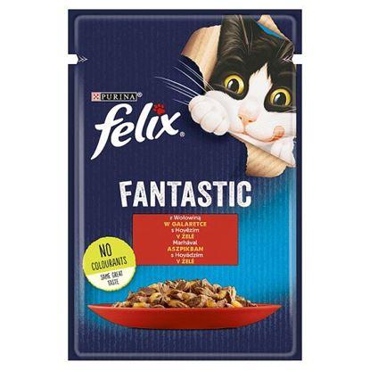 Felix Fantastic Karma dla kotów z wołowiną w galaretce 85 g