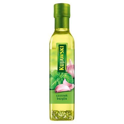 Kujawski Olej rzepakowy z pierwszego tłoczenia z czosnkiem i bazylią 250 ml