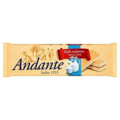 Andante Wafle rodzinne mleczne 130 g