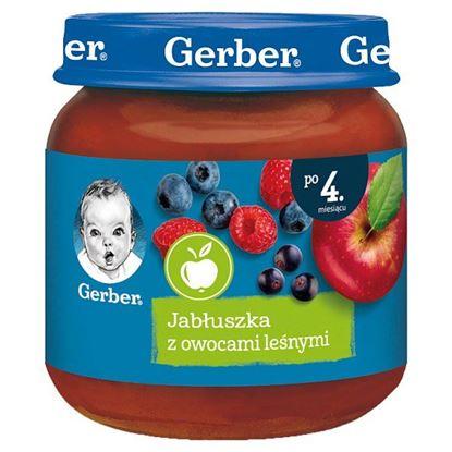 Gerber Jabłuszka z owocami leśnymi dla niemowląt po 4. miesiącu 125 g