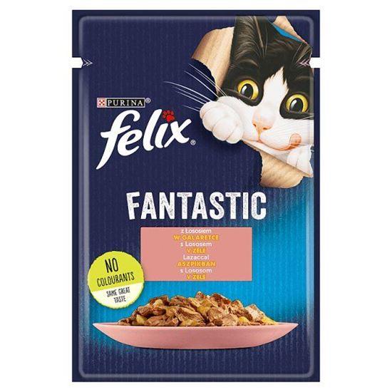 Felix Fantastic Karma dla kotów z łososiem w galaretce 85 g