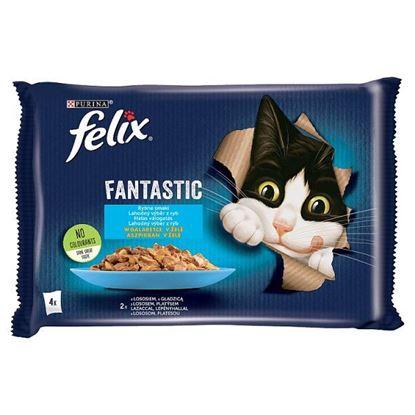 Felix Fantastic Karma dla kotów rybne smaki w galaretce 340 g (4 x 85 g)