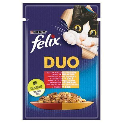 Felix Duo Karma dla kotów z pyszną mieszanką wołowiny i drobiu w galaretce 85 g
