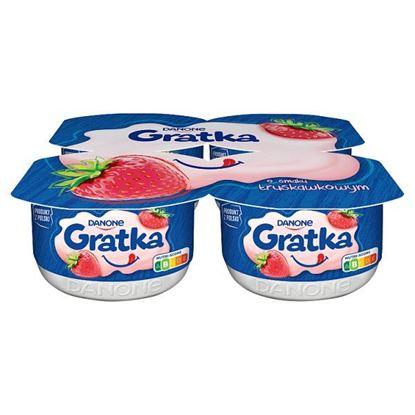 Gratka Deser o smaku truskawkowym 460 g (4 x 115 g)