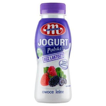 Mlekovita Jogurt Polski bez laktozy owoce leśne 250 g
