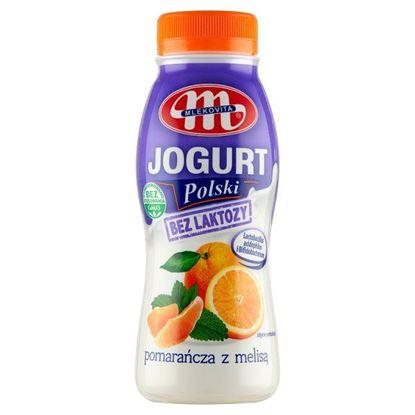Mlekovita Jogurt Polski bez laktozy pomarańcza z melisą 250 g