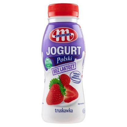 Mlekovita Jogurt Polski bez laktozy truskawkowy 250 g