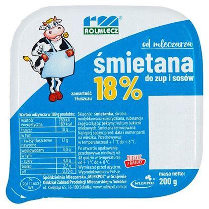 Rolmlecz Śmietana do zup i sosów 18% 200 g