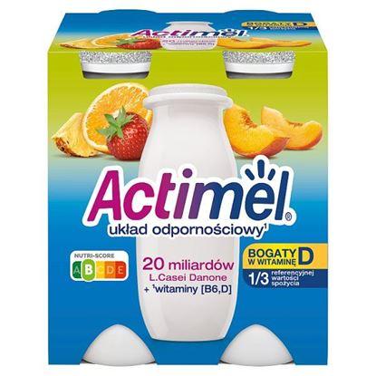 Actimel Mleko fermentowane o smaku wieloowocowym 400 g (4 x 100 g)