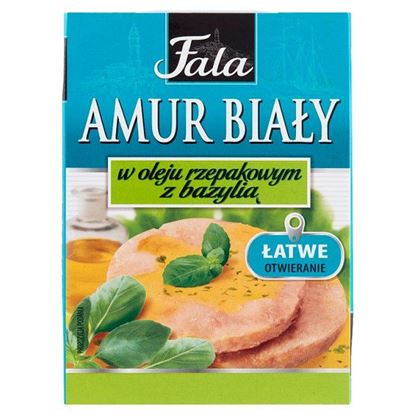 Fala Amur biały w oleju rzepakowym z bazylią 110 g
