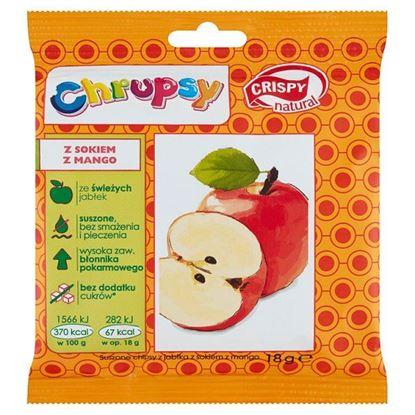 Crispy Natural Chrupsy Suszone chipsy z jabłka z sokiem z mango 18 g