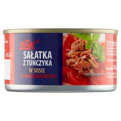 B&K Sałatka z tuńczyka w sosie pomidorowym 185 g