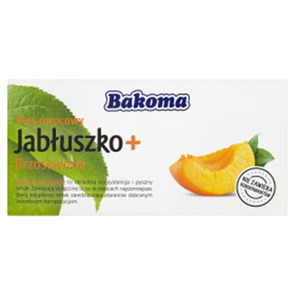 Obrazek Bakoma Mus owocowy Jabłuszko + Brzoskwinia 200 g (2 sztuki)