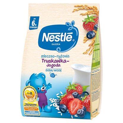 Nestlé Kaszka mleczno-ryżowa truskawka-jagoda dla niemowląt po 6. miesiącu 230 g