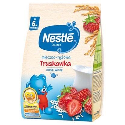 Nestlé Kaszka mleczno-ryżowa truskawka dla niemowląt po 6. miesiącu 230 g