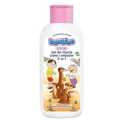 Bambino Dzieciaki Żel do mycia ciała i włosów 2w1 Surykatki