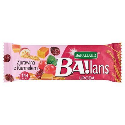 Bakalland Ba!lans uroda Baton żurawina z karmelem 38 g