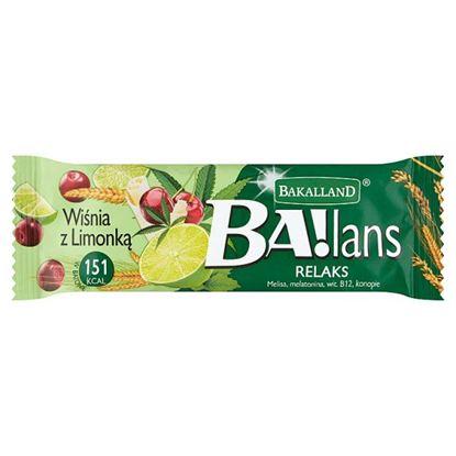 Bakalland Ba!lans Relaks Baton wiśnia z limonką 38 g