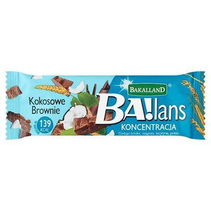 Bakalland Ba!lans Koncentracja Baton kokosowe brownie 35 g