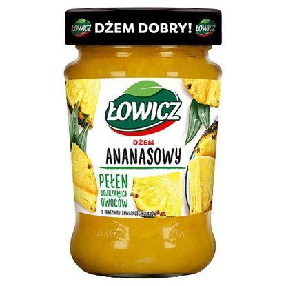 Łowicz Dżem ananasowy o obniżonej zawartości cukrów 280 g