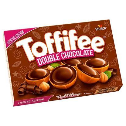 Toffifee Double Chocolate Orzech laskowy w karmelu kremie i czekoladzie 125 g (15 sztuk)