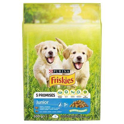 Friskies 5 Promises Junior Karma dla szczeniąt z kurczakiem i warzywami z mlekiem 500 g