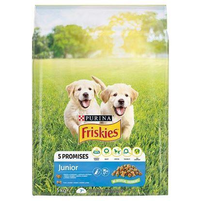 Friskies 5 Promises Junior Karma dla szczeniąt z kurczakiem i warzywami z mlekiem 3 kg