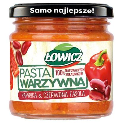Łowicz Pasta warzywna papryka & czerwona fasola 180 g