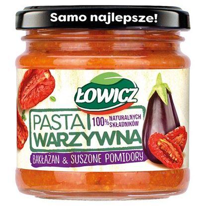 Łowicz Pasta warzywna bakłażan & suszone pomidory 180 g