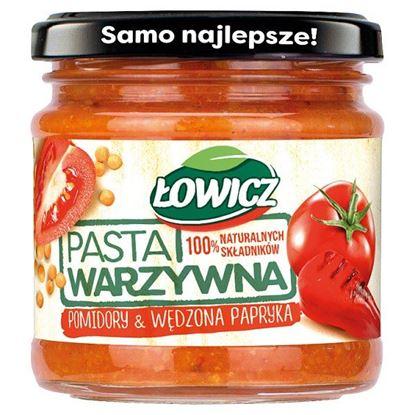 Łowicz Pasta warzywna pomidory & wędzona papryka 180 g