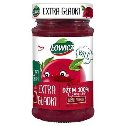 Łowicz Dżem 100% z owoców extra gładki wiśnia z acerolą 235 g
